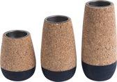 Tealight set Cone cork - Blue Dip