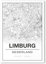 Poster/plattegrond LIMBURG - 30x40cm