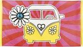 Hippie Flower Power vlag 90 x 150 cm - Feestdecoratievoorwerp