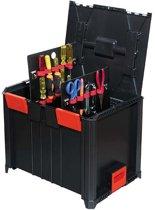 Koffer 3 modulair stapelbaar met inlays 464x335x362mm