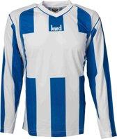 KWD Sportshirt Napels lange mouw - Blauw/wit - Maat L