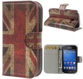 Uk vlag wallet case hoesje Samsung Galaxy Ace Style G310