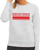 Dokter logo sweater grijs voor dames XL