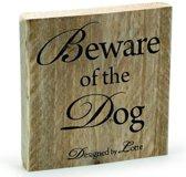 Mooi Design waakbord Beware of the Dog 19,5x19,5 cm