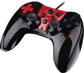 Genesis Wired Controller P44 PS3 + PC - Zwart + Rood