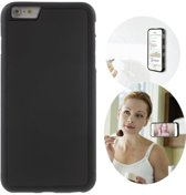 GadgetBay Anti-Gravity case hands-free selfie cover zwart iPhone 6 6s hoes nano coating