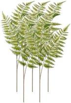 5x Groene kunst boomvaren tak 85 cm - Kunstbloemen