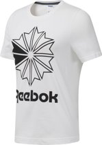 Reebok Classics Big Logo Graphic Tee Dames Sportshirt - White/Black - Maat M