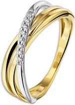 The Jewelry Collection Ring Diamant 0.04 Ct. - Bicolor Goud