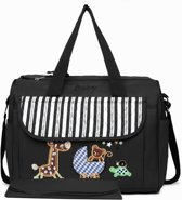 MATERNITY CHANGING BAG ANIMAL FRIENDS (08348 BK)