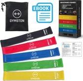 Gymston - 5 Weerstandsbanden - fitness elastiek Set - sport elastiek banden- Inclusief Draagtas en E-Book(pdf) + een handleiding met oefeningen!