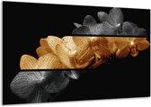 Glasschilderij Orchidee | Sepia, Bruin | 120x70cm 1Luik | Foto print op Glas |  F001999