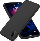 iPhone X / Xs Siliconen Hoesje Zwart Premium Cover Shockproof Case