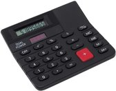 Bureau rekenmachine zwart 12 cm - Kantoor calculator - Bureaurekenmachine