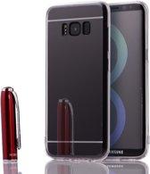 2in1 Spiegel en Hoesje voor Samsung Galaxy S8 Plus - Zwart