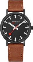 Mondaine A660.30360.64SBG Horloge - Leer - Bruin - Ø 40 mm