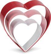 Set uitsteekvormen rvs hart 3 dlg.