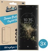 Just in Case Screen Protector Sony Xperia XA2 Plus - Crystal Clear - 3 stuks