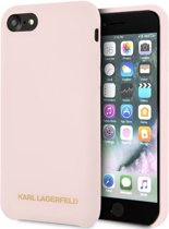 """Karl Lagerfeld Silicone Case - Apple iPhone 7 (4.7"""") - Roze"""