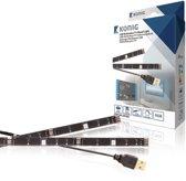 TV Mood Light USB LED strip - 60 lummen  - 2x 500 mm (totaal 1000 mm) - RGB kleur - Afstandsbediening