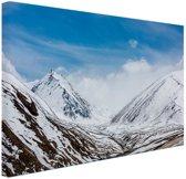 Toppen Himalaya in winter Canvas 60x40 cm - Foto print op Canvas schilderij (Wanddecoratie)