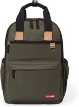 Signature Duo Backpack Olive Mini Grid