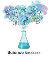 Science Notebook: science notebook with white paper and Lined pages