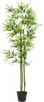 vidaXL Kunst bamboe plant met pot 150 cm groen