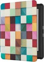 Lunso - Sleepcover voor Kobo Glo, Glo HD, Touch 2.0 - Blokken
