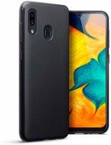 Samsung Galaxy A20s TPU Back Cover - Zwart - van Bixb