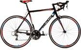 Ks Cycling Fiets 28 inch racefiets Velocity met Shimano-derailleurgroep voor 24 versnellingen, zwart -