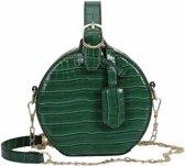 Schoudertas slangenprint - Schoudertasje groen - Snake bag - Slangenprint tas groen