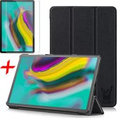 Samsung Galaxy Tab S5e Hoes + Screenprotector - Smart Book Case Hoesje - iCall - Zwart