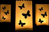 Candle bag 10 stuks vlinders