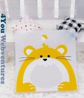 50x Transparante Uitdeelzakjes Eekhoorn Design 10 x 10 cm met plakstrip - Cellofaan Plastic Traktatie Kado Zakjes - Snoepzakjes - Koekzakjes - Koekje - Cookie Bags Present for You