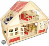 Playwood Poppenhuis - Hout - Inclusief 25 delige meubelset