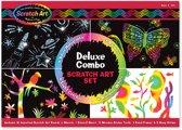 Melissa & Doug Deluxe Combo Scratch Art Set: 16 bladen, 2 stylus pennen, 3 schildersezels