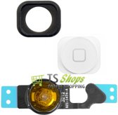 Home Button & Gasket White/wit + Flex Cable voor Apple iPhone 5