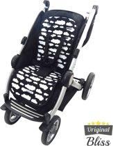 Inlegkussen buggy - Buggy accessoires - Buggy kussen - Buggy inleg - Wolk Zwart