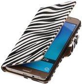 Zebra Bookstyle Hoesje voor Samsung Galaxy J7 (2016) Wit