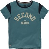 America Today Jongens T-shirt Erland - Blauw - Maat 158/164