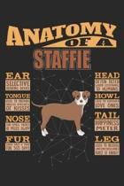 Anatomy Of A Staffie: Anatomy Of A Staffordshire Bull Terrier Notebook Journal 6x9 Personalized Customized Gift For Staffordshire Bull Terri