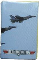 Interstat -  Uitnodigingskaarten - F16 straaljager - 6st.