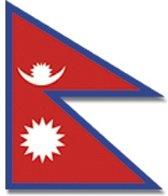 Vlag  van Nepal 90 x 110 cm