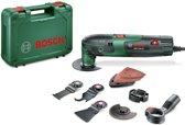 Bosch PMF 220 CE Multitool set Oscillerend 220 Watt Inclusief 9 accessoires en kunststof koffer