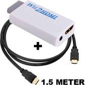 Wii naar HDMI converter / omvormer / adapter + HDMI kabel 1.5 meter