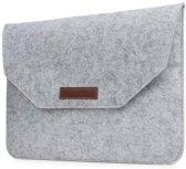 Vilten Soft Sleeve Voor de Apple Macbook Air / Pro (Retina) 15 Inch - Bescherming Cover Hoes - Grijs