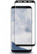 Galaxy S9 - glazen screenprotector - Full Cover - gehard glas - Zwart