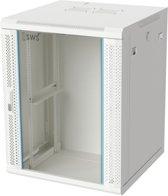 Alfaco 19-6615W, 15U Patchkast - Wandkast 19'' met glazen voordeur, (BxDxH) 600x600x769