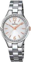 Festina F20246/1 horloge dames - zilver - edelstaal